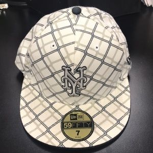 NEW ERA 59FIFTY METS CHAINLINK FENCE FITTED HAT
